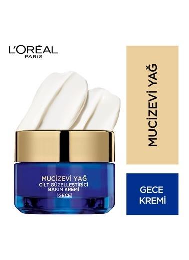 L'Oréal Paris Mucizevi Yağ Cilt Güzelleştirici Gece Bakım Kremi Renkli